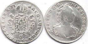 coin Austrian Netherlands 1/8 ducaton 1753