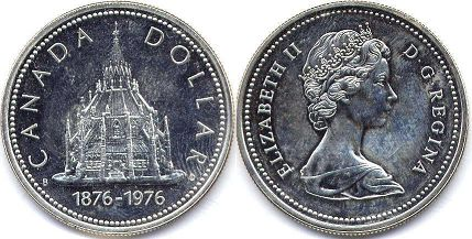 coin canadian commemorative coin 1 dollar 1976