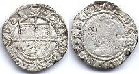 coin English old silver coin - Elizabeth I half groat