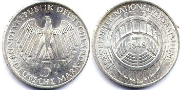 coin Germany 5 mark 1973