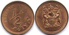 coin Rhodesia 1/2 cent 1970