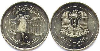 coin Syria 10 pounds 2003