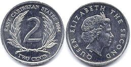 coin Eastern Caribbean States 2 cents 2004