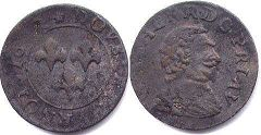 coin Orange 2 denier 1642