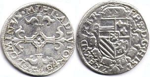 coin Spanish Netherlands 1/20 filipsdaarder 1551