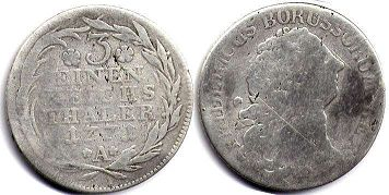 coin Prussia 1/3 taler 1771