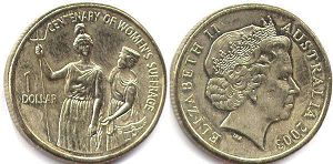 australian commemmorative coin1 dollar 2003