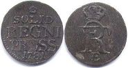 coin Prussia solidus 1781