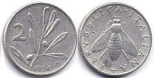 coin Italy 2 lire 1954