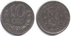 coin Luxembourg 10 centimes 1918