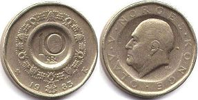 coin Norway 10 kroner 1983