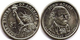 coin US commemorative coin 1 dollar 2007  President dollar Adams