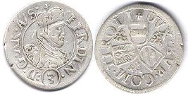 coin Austria 3 kreuzer without date (1564-1595)