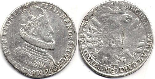 coin RDR Austria taler ND (1619-1637)