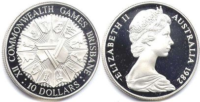 australian commemmorative coin10 dollars 1982
