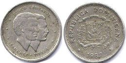 coin Dominican Republic 5 centavos 1987