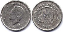 coin Dominican Republic 10 centavos 1984