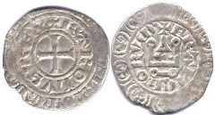 coin France maille blanche 1322-1328
