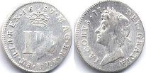coin English old silver coin - James II 3 pence