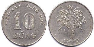 coin South Viet Nam 10 dong 1970