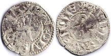 coin Anjou denier 1246-1285