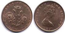 coin Isle of Man 1/2 new penny 1971