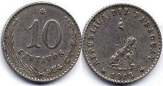 coin Paraguay 10 centavos 1903