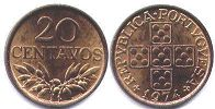 coin Portugal 20 centavos 1974