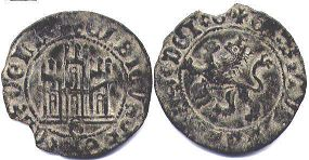 coin Castile and Leon 2 maravedi 1454-1474