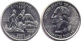 coin US commemorative coin 1/4 dollar 2005 state quarter California