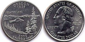 coin US commemorative coin 1/4 dollar 2005 state quarter Oregon