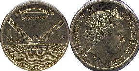 australian commemmorative coin 1 dollar 2007