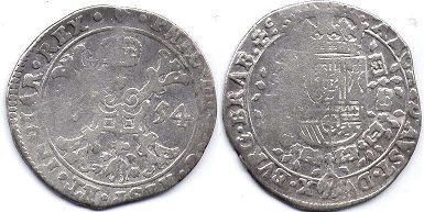 coin Spanish Netherlands 1/3 patagon 1654