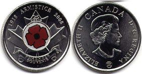 coin canadian commemorative coin 25 cents 2008