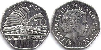 coin UK coin 50 pence 2000
