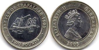 coin Gibraltar 2 pounds 2005