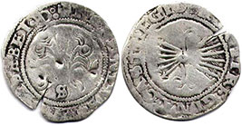 coin Castile and Leon 1/2 real 1479-1506