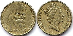 australian commemmorative coin 1 dollar 1996