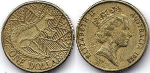 australian commemmorative coin 1 dollar 1988