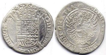 coin Spanish Netherlands schelling ND (1612-1621)