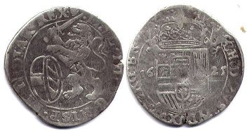 coin Spanish Netherlands schelling 1625