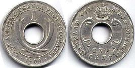 coin EAST AFRICA & UGANDA 1 cent 1909