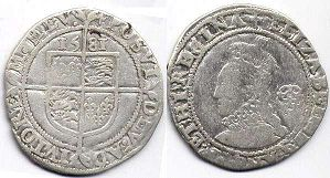 coin English old silver coin - Elizabeth I 6 pence 1581