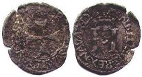 coin Navarre liard without date (1516-1555)