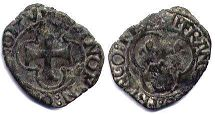 coin Dauphine double denier ND (1515-40)