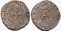 coin Navarre liard without date (1555-1562)
