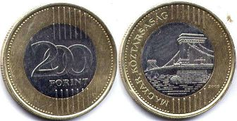 coin Hungary 200 forint 2009