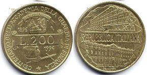 coin Italy 200 lire 1996