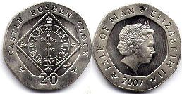 coin Isle of Man 20 pence 2007