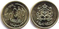 piece Morocco 10 centimes 2002